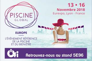 Ofi objet connecté piscine sera au Salon Piscine Global de Lyon du 13 au 16 novembre 2018 - Stand 5E96